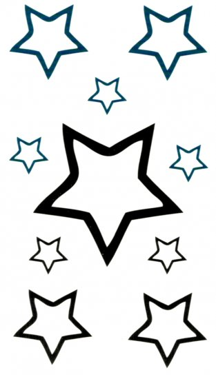 Black and blue stars